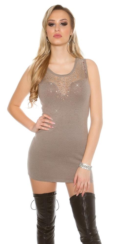 Úpletové dámske mini šaty Koucla in-sat1427ca