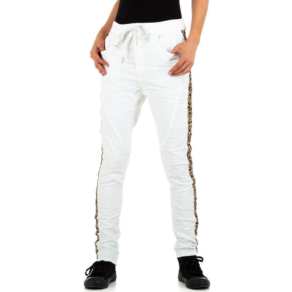 Bílé džíny s lampasy EU shd-ri1220wh