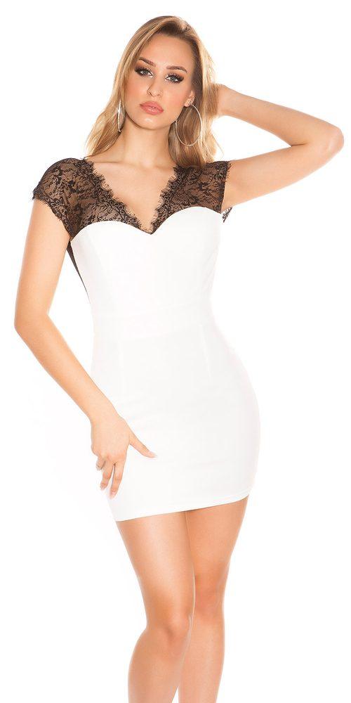 Dámské šaty s krajkou - 36 Koucla in-sat1062wh