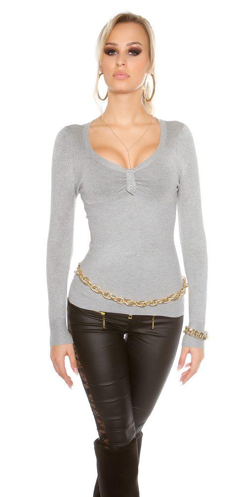 Koucla Dámský svetr šedý