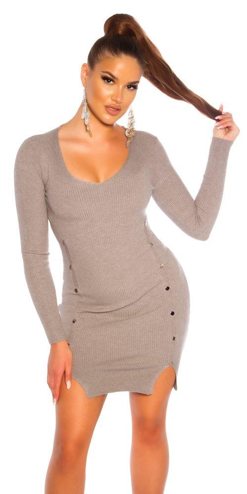 Dámské šaty z úpletu Koucla in-sat2239gr