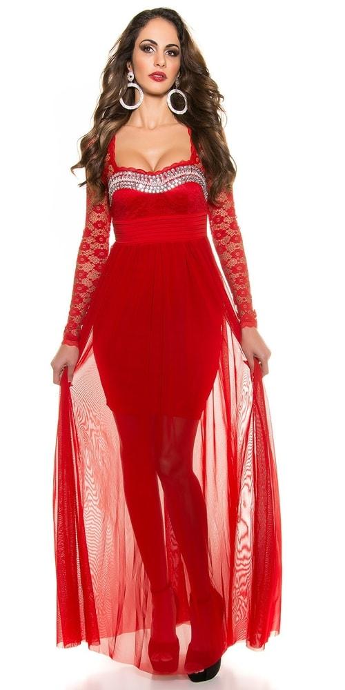 Koucla Krásné dlouhé plesové šaty