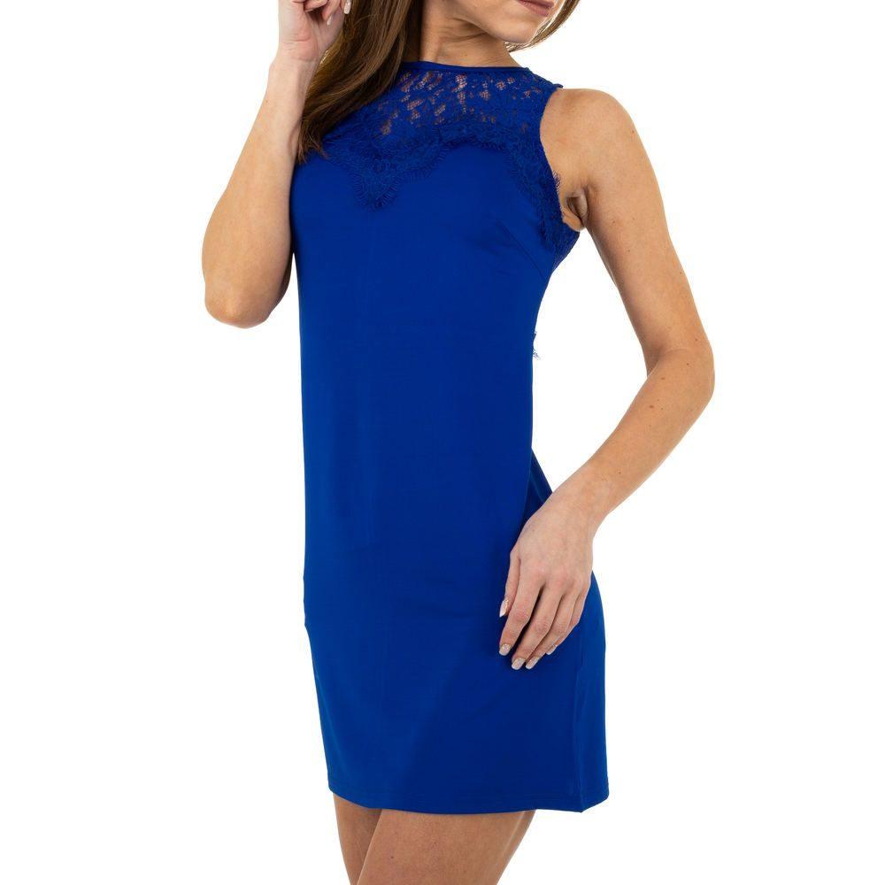 Modré mini šaty s krajkou EU shd-sat1149mo
