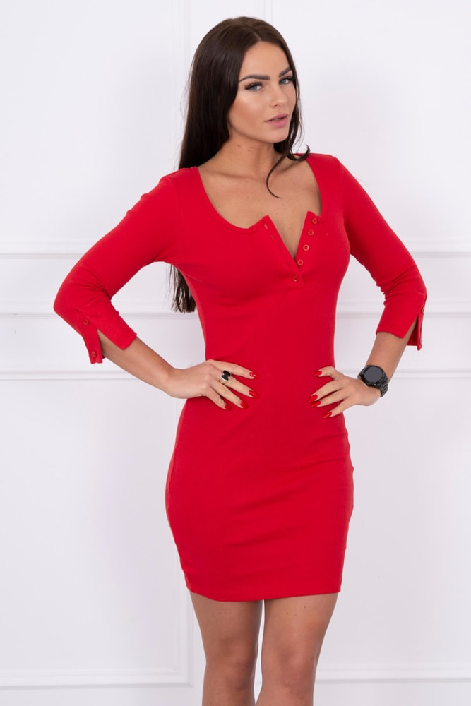 Červené šaty dámske - S/M Kesi ks-sa8972re