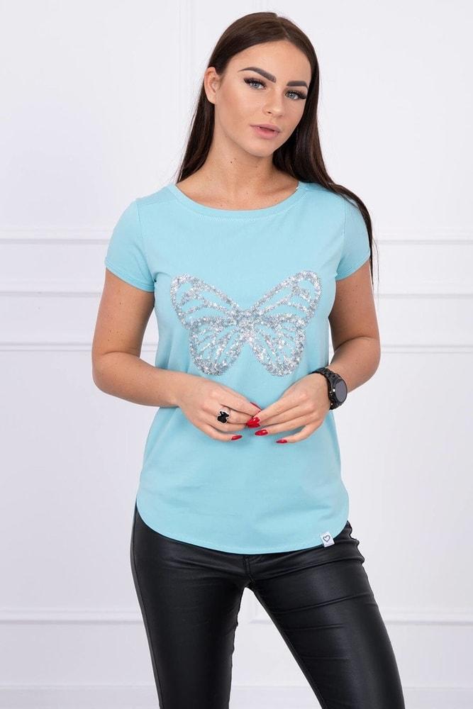 Tričko s aplikáciou motýľa Kesi ks-tr61047tmi