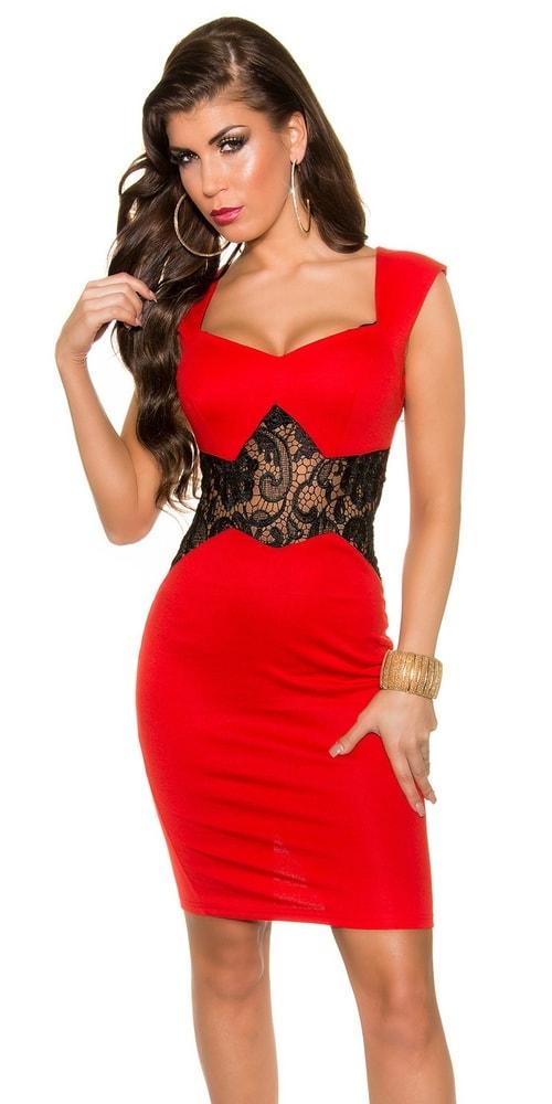 Červené koktejlové šaty Koucla in-sat1041re