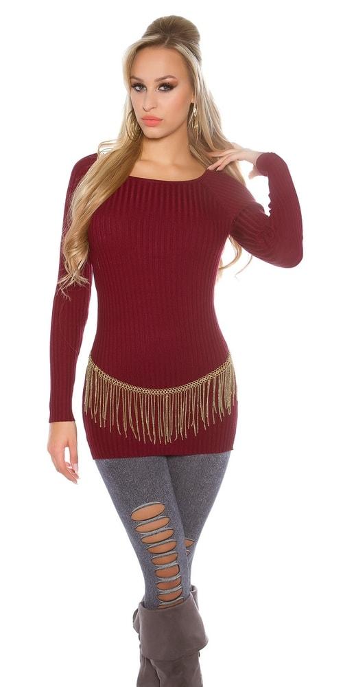 Koucla Dlouhý dámský pulovr