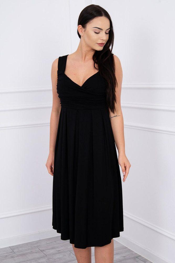 Čierne dámske šaty - L Kesi ks-sa61063bl