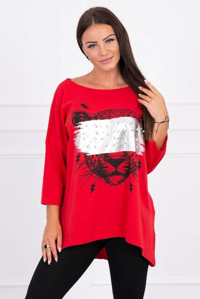 Červená volná tunika Kesi ks-ha9008re