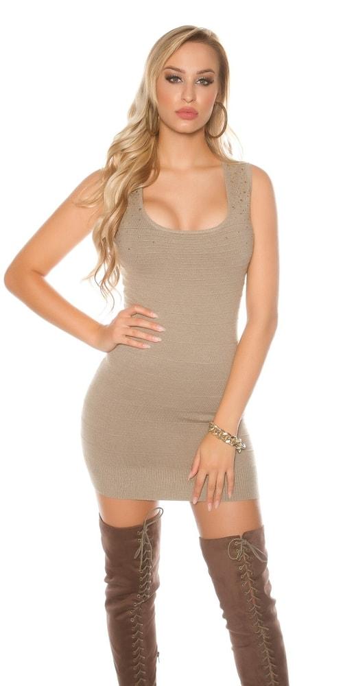 Dámske úpletové mini šaty Koucla in-sat1683ta