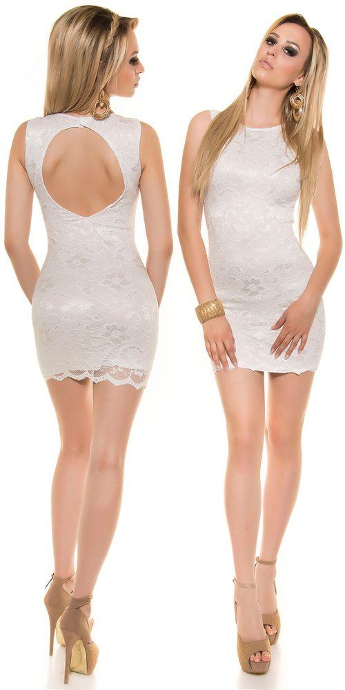 Koucla Večerní mini šaty s krajkou