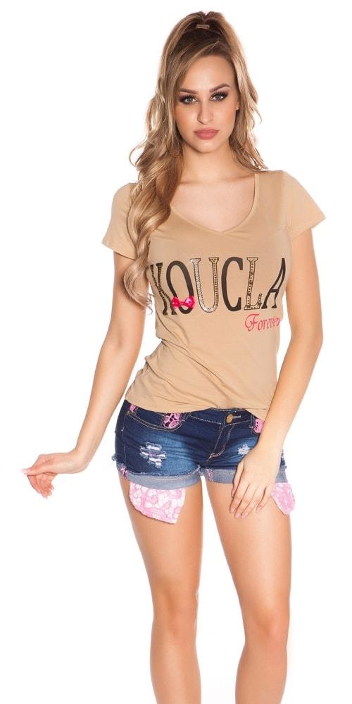 Dámske tričko s čipkou Koucla in-tr1186be