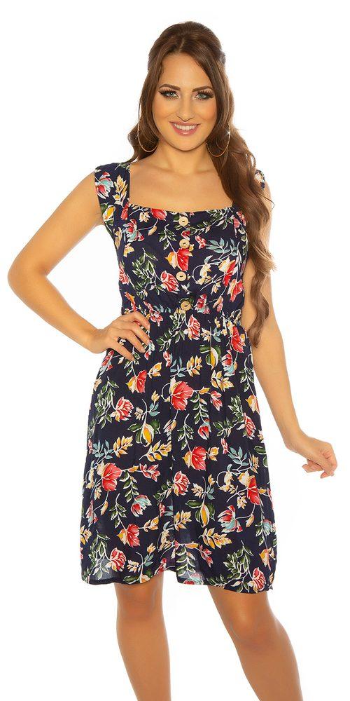 Dámské květované šaty - M/L Koucla in-sat2183tm