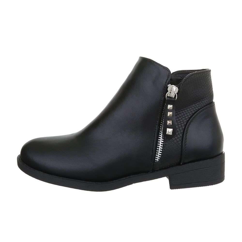 Čierne členkové topánky - 37 EU shd-okk1290bl