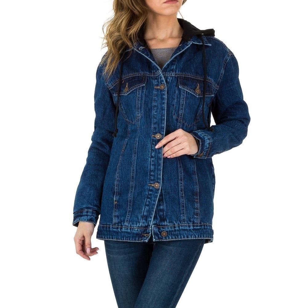Dlhá dámska džínsová bunda - XS/34 EU shd-bu1025mo
