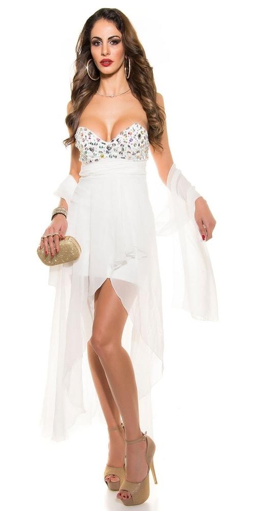 Biele šaty do spoločnosti - L Koucla in-sat1049wh