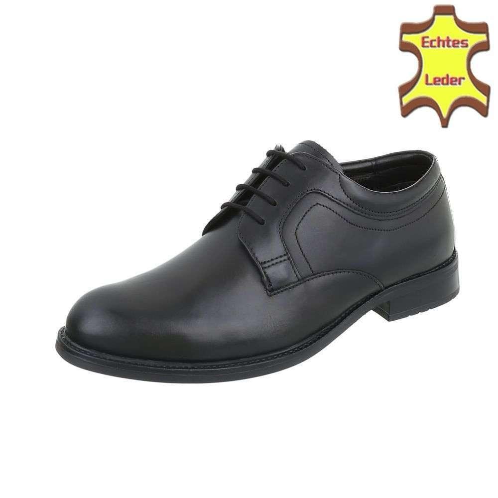 Pánske spoločenské topánky - čierné shp-osp1065pi