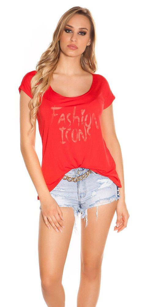 Ležérní tričko dámské Koucla in-tr1024re