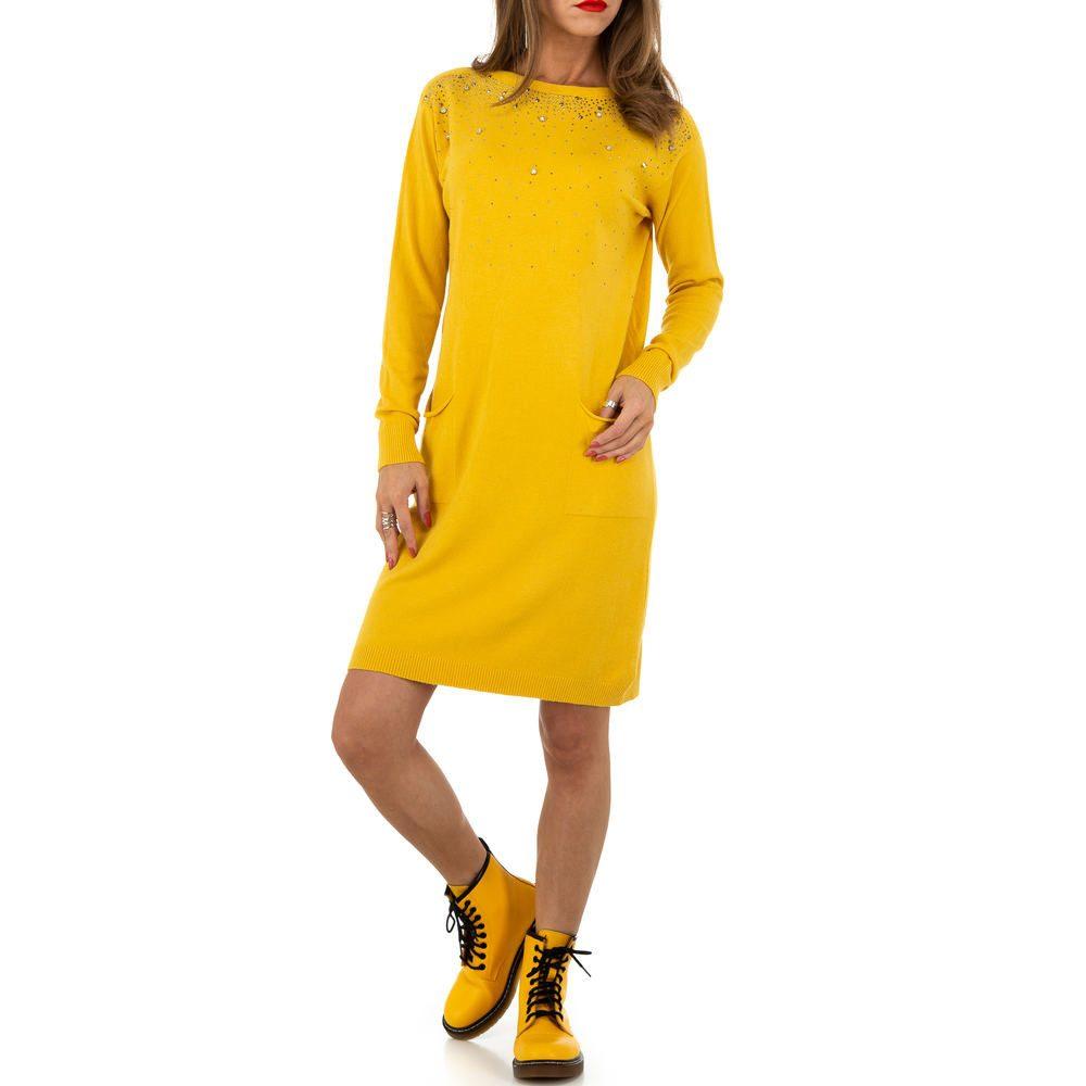 Úpletové šaty s perličkami shd-sat1257ge