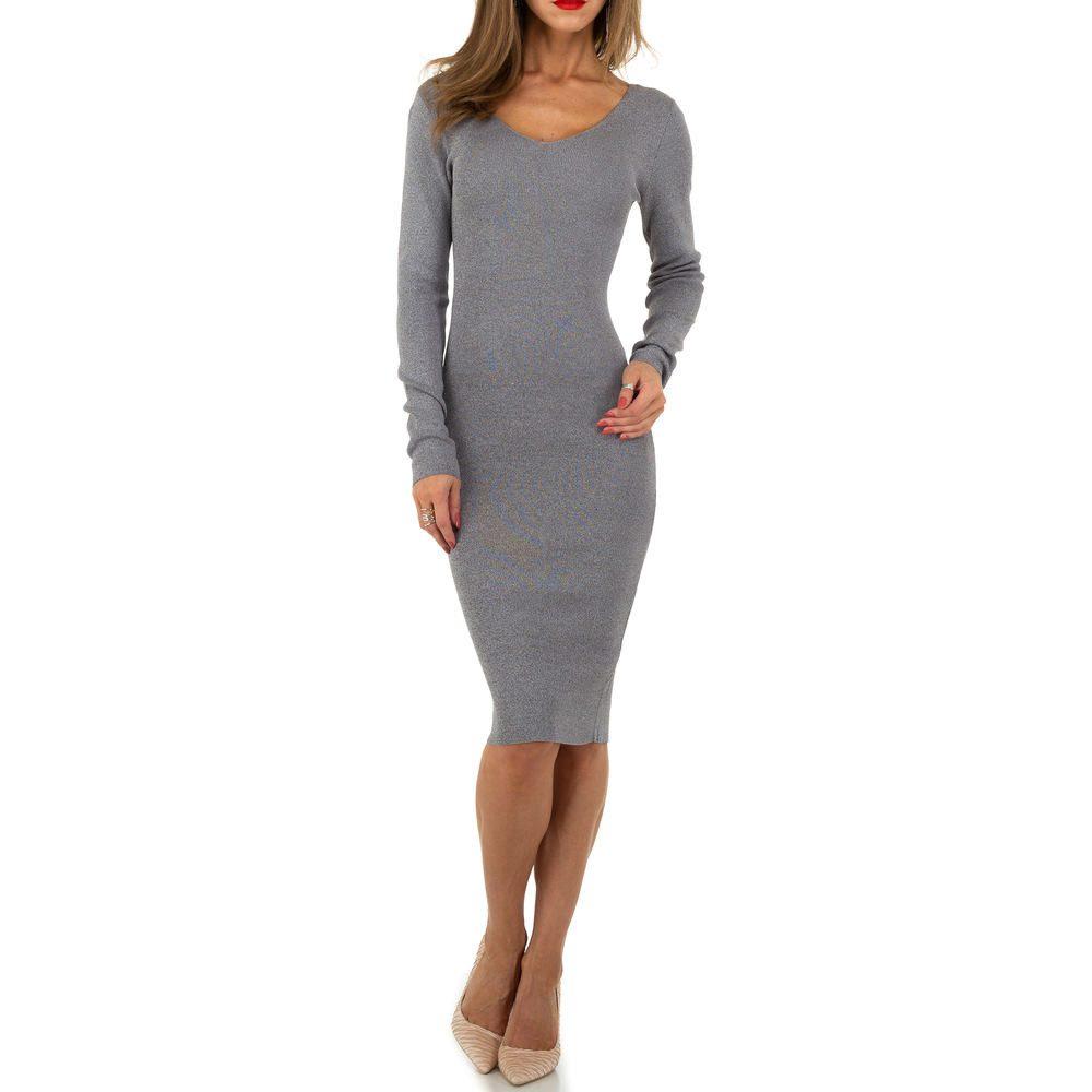 Úpletové dámské šaty EU shd-sat1236gr