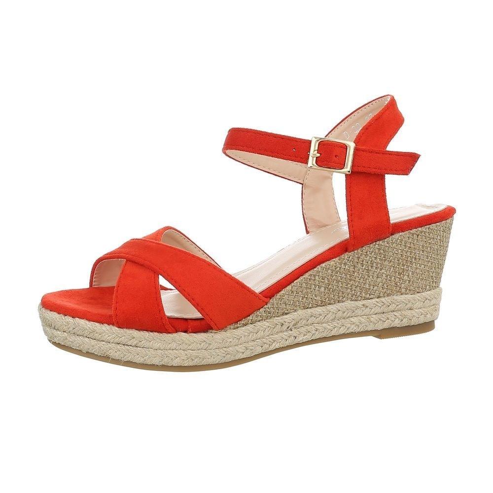 Sandály na klínku červené - 40 EU shd-osa1142re