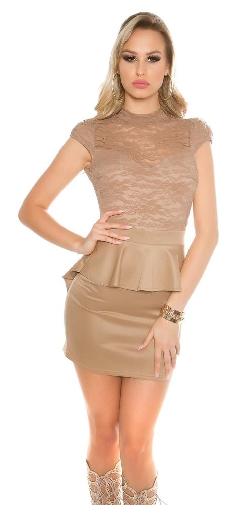 Dámske šaty s peplum - M Koucla in-sat1440ca