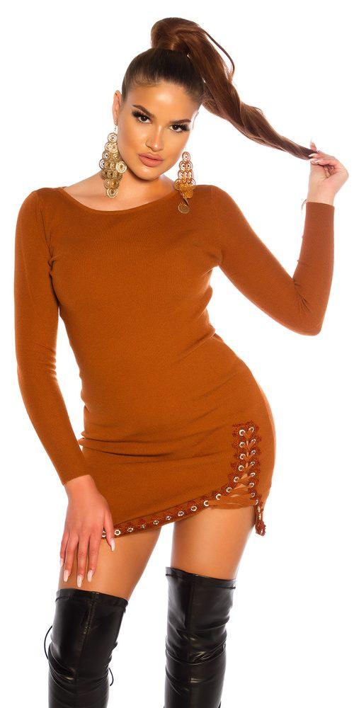 Úpletové mini šaty Koucla in-sat2234br