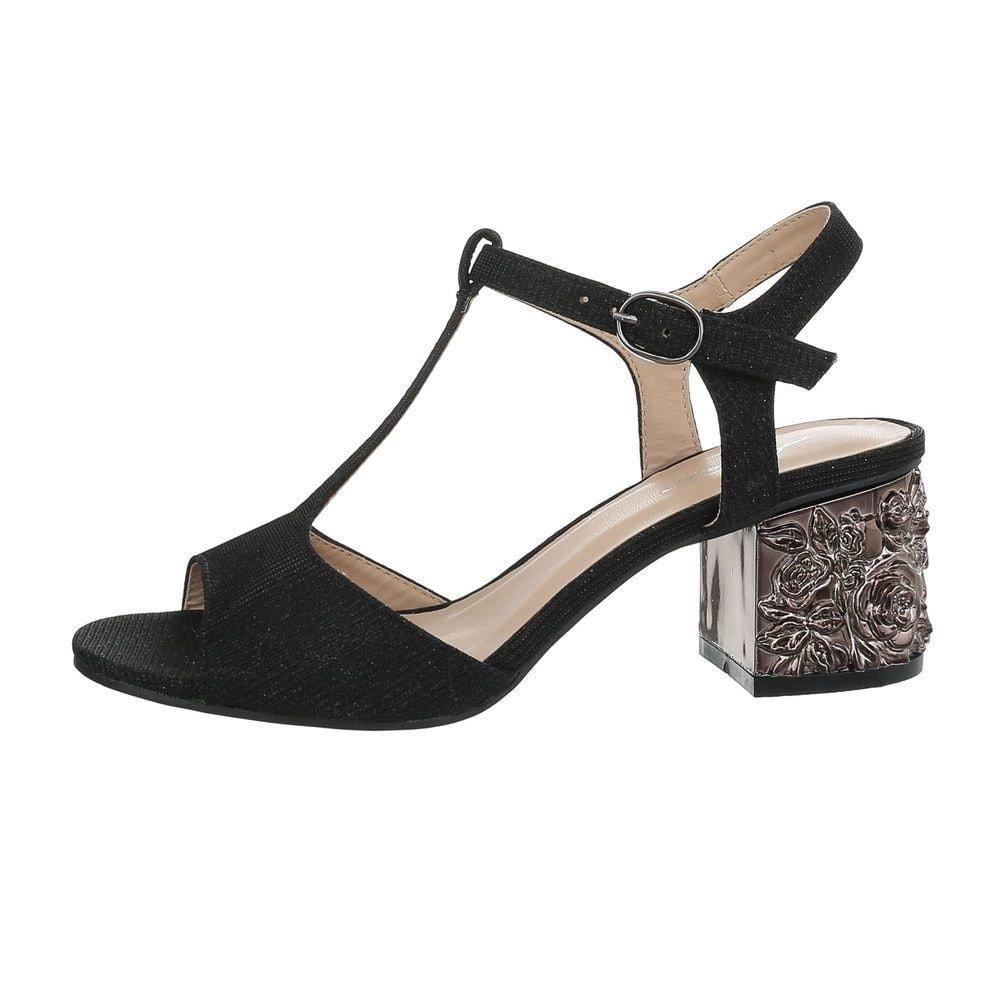 Dámske čierne sandálky EU shd-osa1255bl