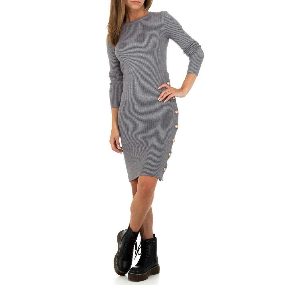 Elegantní úpletové šaty - S/M EU shd-sat1242gr
