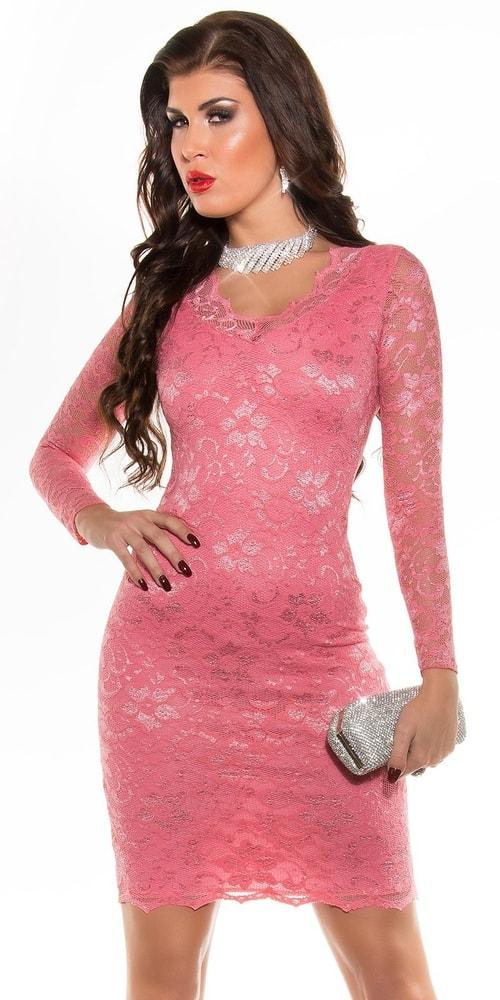 Čipkované dámske šaty - 40 Koucla in-sat1742ko