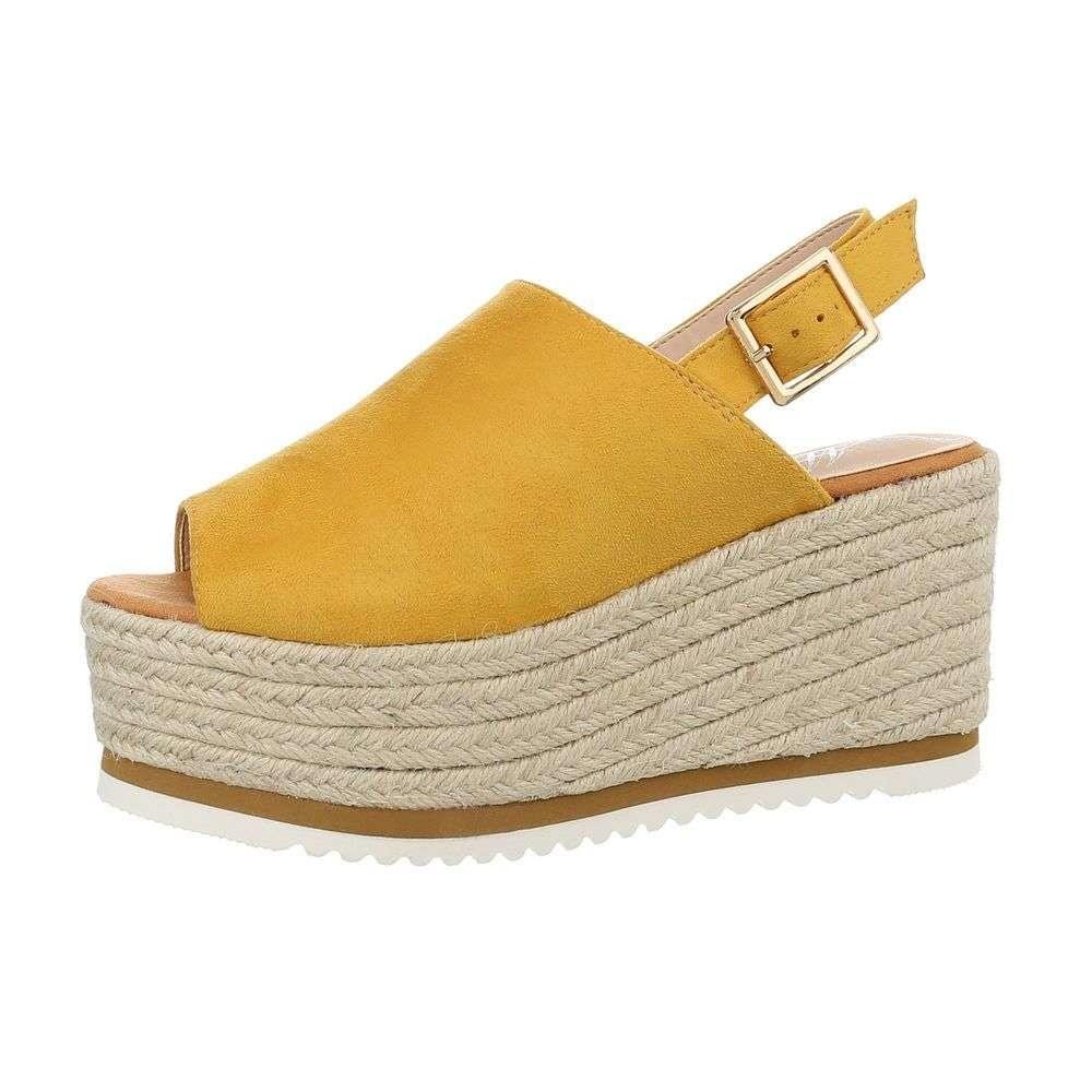 Žluté letní sandály - 41 shd-osa1127ye