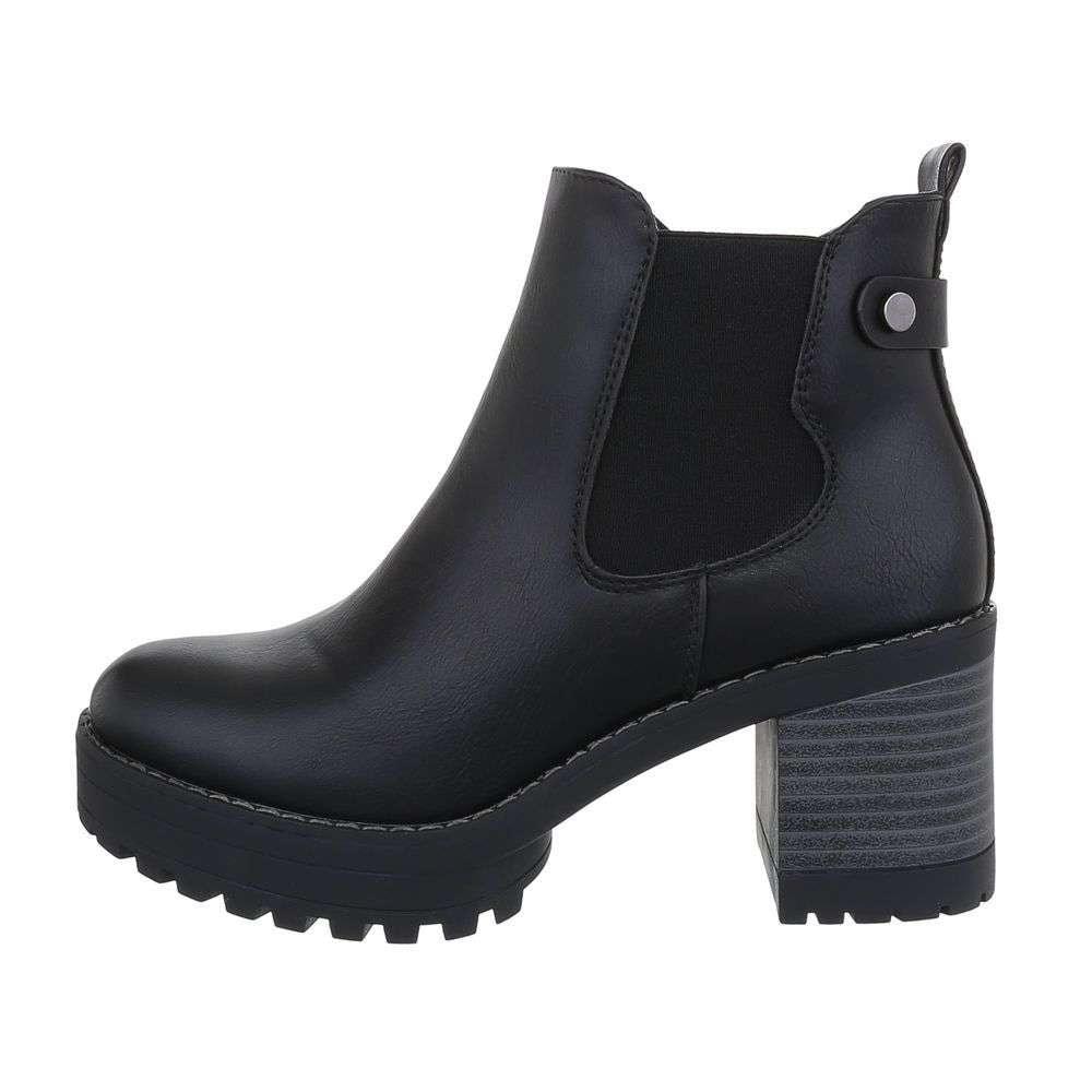 Čierne členkové topánky - 37 EU shd-okk1225bl
