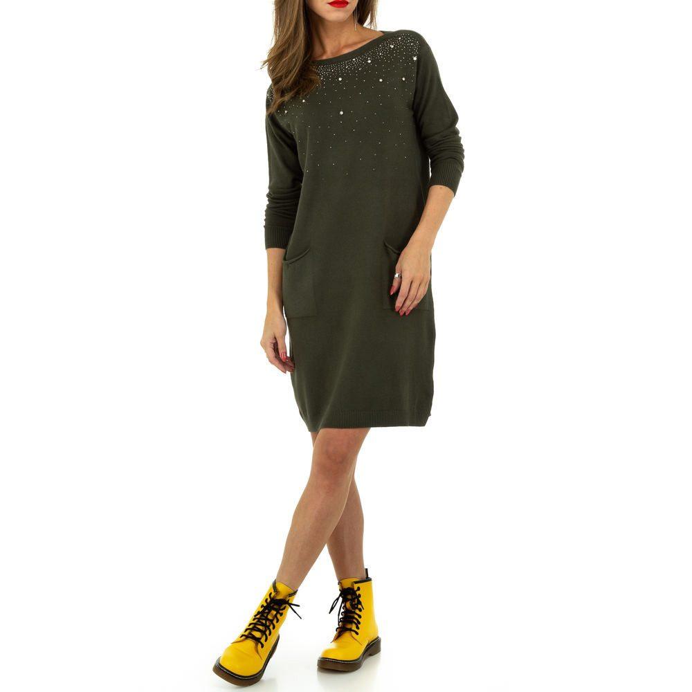 Úpletové šaty s perličkami shd-sat1257kh