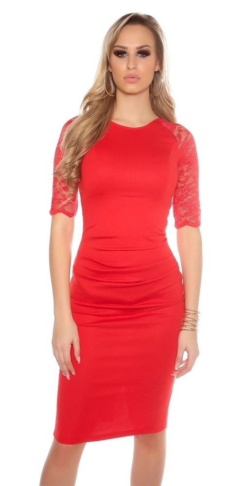 Elegantné puzdrové šaty - 36 Koucla in-sat1033re