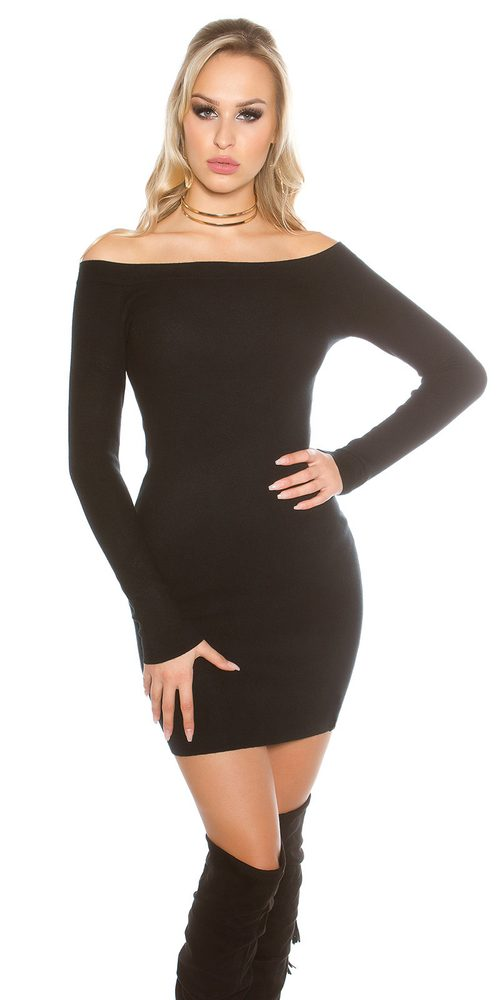 Dámské šaty z úpletu Koucla in-sat2142bl