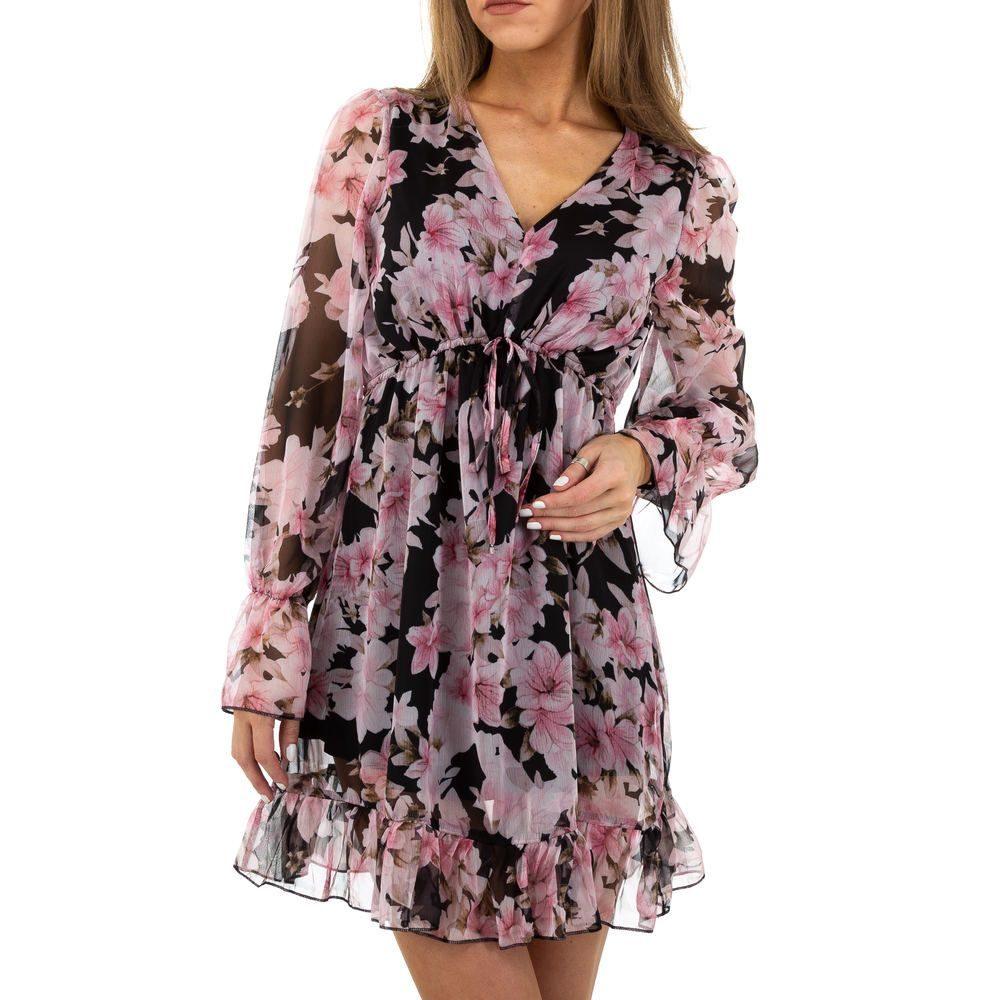 Letní květované šaty EU shd-sat1176bl