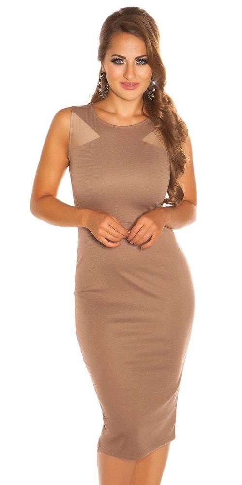 Dámske hnedé šaty - 40 Koucla in-sat1012ca