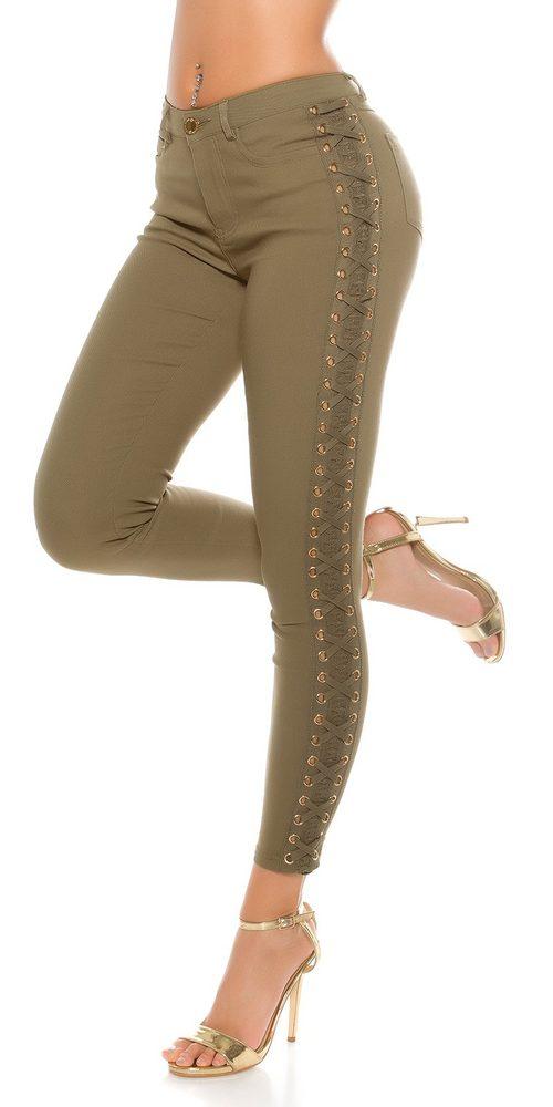 Dámske džínsy so šnurovaním Koucla in-ri1285kh