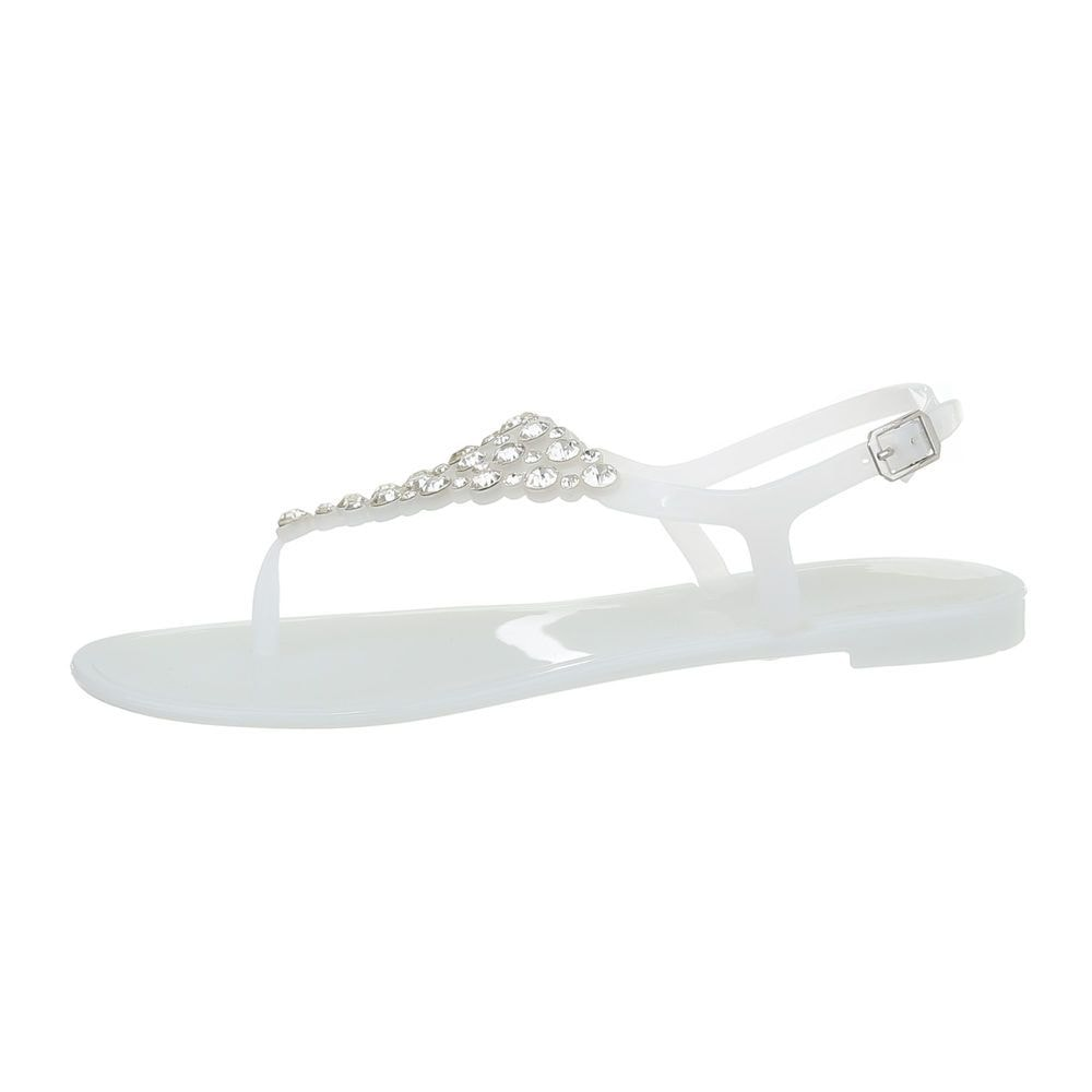 Biele letné žabky - 38 EU shd-osa1252wh