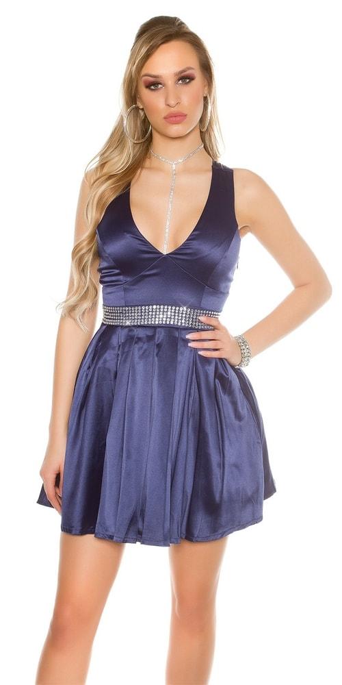 Dámske koktejlové šaty - modré - 38 Koucla in-sat1114mo