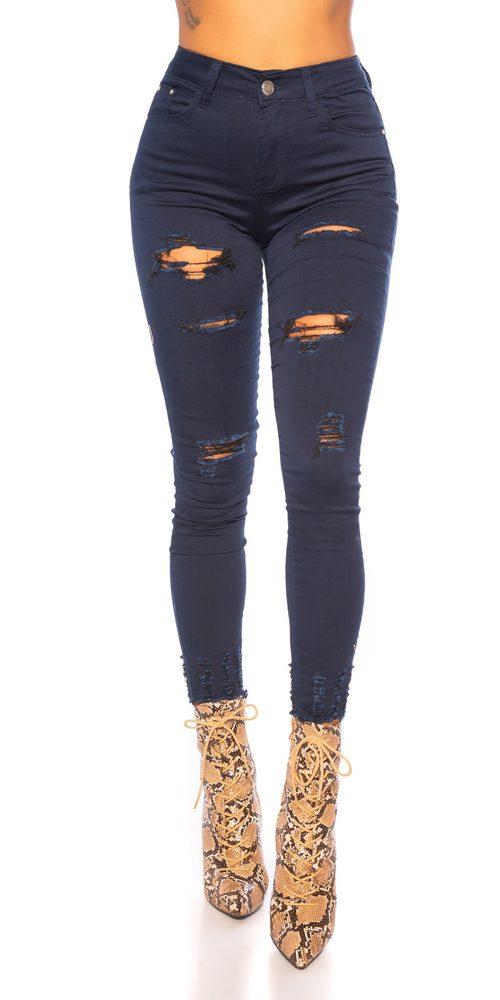 Dámské džíny s děrováním - 42 Koucla in-ri1696tm