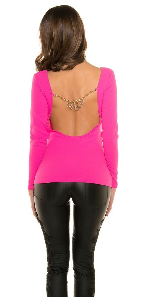 Ružové tričko s odhaleným chrbtom Koucla in-ha1101pi