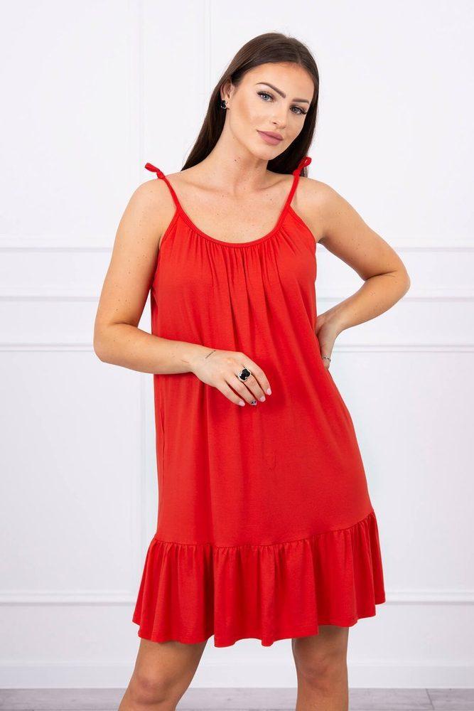 Červené letní šaty Kesi ks-sa9080re