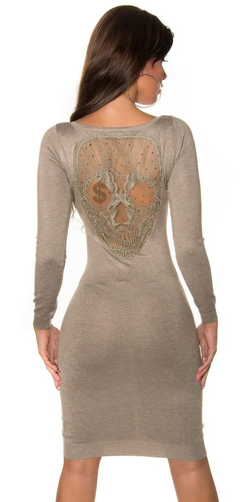 Dámske úpletové šaty s čipkou Koucla in-sat1148ta