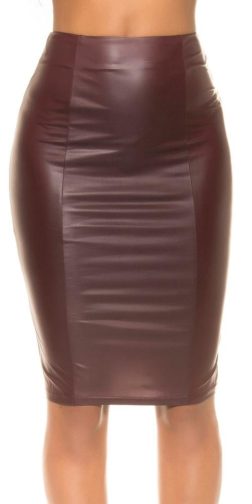 Dámska latexová sukňa Koucla in-su1069bo