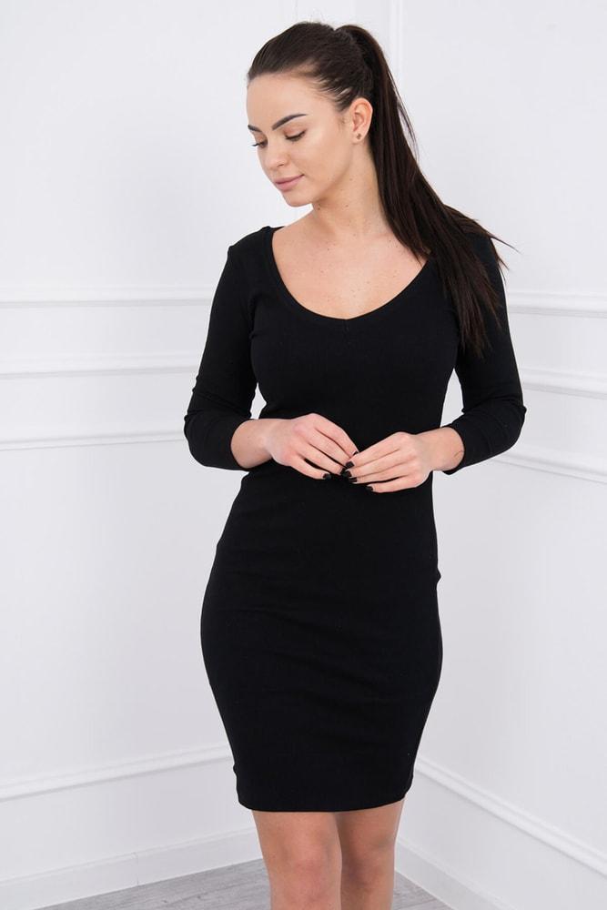 Čierne elastické šaty Kesi ks-sa8863bl