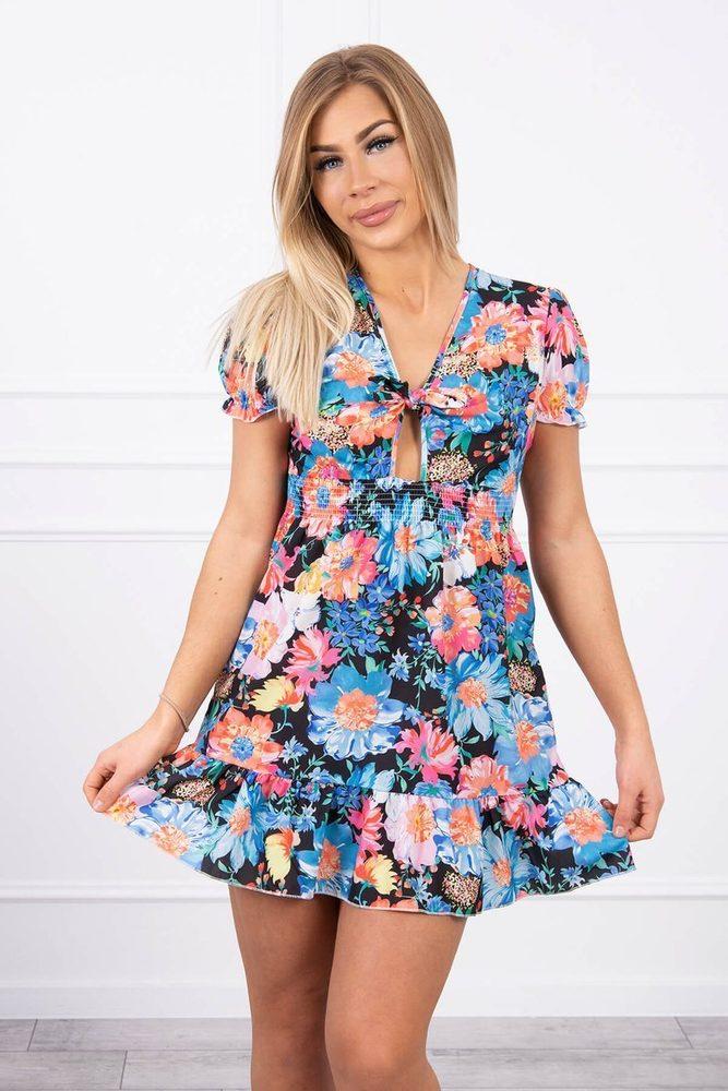 Letní květované šaty Kesi ks-sa9267bl