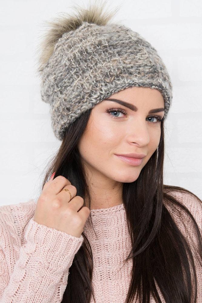 Pletená zimná čiapka Kesi ks-ce158be