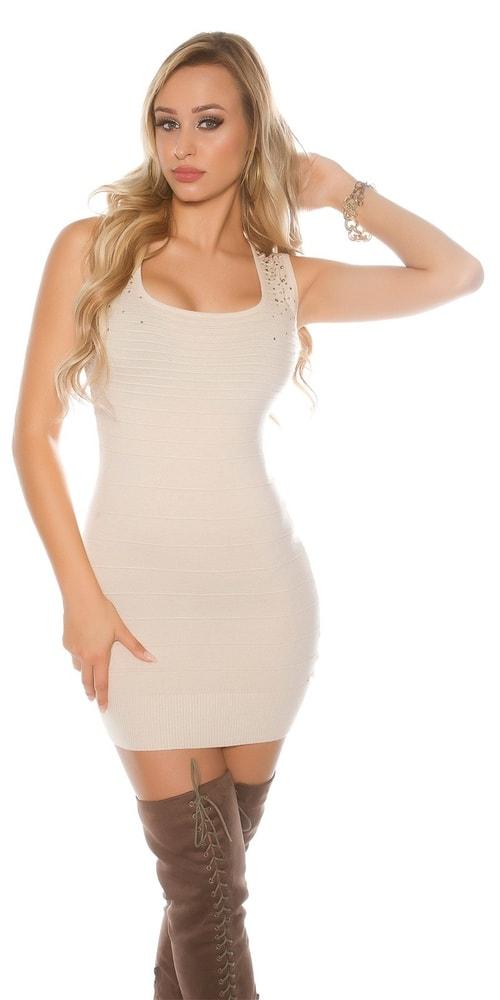 Dámske mini šaty z úpletu Koucla in-sat1683be