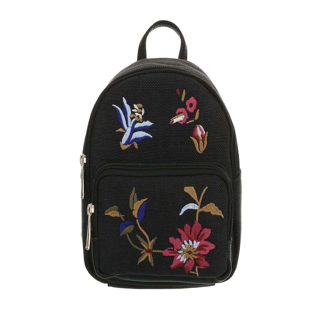 Čierny batoh s výšivkou EU sh-ta1110bl